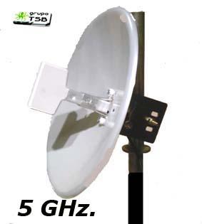 Antena Wireless 5,8 Ghz 23 Dbi, Parabola Solida Alto Rendimiento 80 cm. cable y conector rp-sma