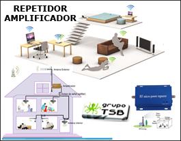 Kit Amplificador repetidor Telefonia Celular 2G/3G