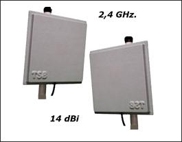 Antena Wireless 2,4 GHz. 14 Dbi X 2 Unid. Kit Enlace hasta 5 km.Wi-fi Oferta