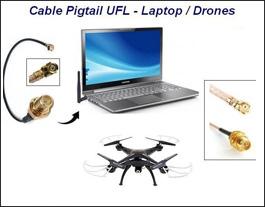 Antena Wifi 2.4ghz. 5dbi + Pigtail Ufl/sma Ideal Modulos-drones-placas laptos
