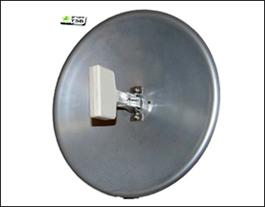 Antena Enlace Inalambrico Parabola Solida 18 Dbi 2,4 Ghz. 80 cm.de cable