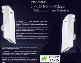 Enlace Wireless Punto A Punto 5,8 Ghz. 13 Dbi, 500 Mw,5 Km.