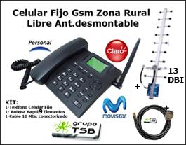 Celular Gsm Zona Rural De Baja Señal + Antena 13 dbi + 10 Mts. Cable