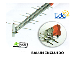Antena Tda Tv-digital Gratuita ,hd 14 Elem. Balum Incluido