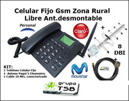 Celular Gsm De Mesa Zona Rural Libre +antena 5 elementos.+cable 10 Mts 2G/3G