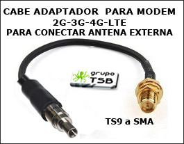 Conector Adaptador Antena Ts9/sma Para Modem 3g-4g-lte