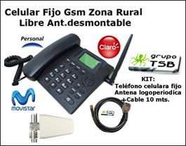 Celular Gsm De Mesa Zona Rural Libre +antena cuatribanda.+cable 10Mts.