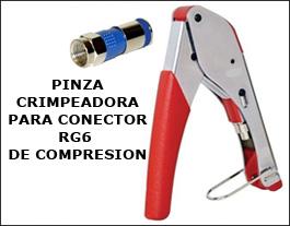 Pinza Crimpeadora compresión RG6/RG59 De Tv Coaxil