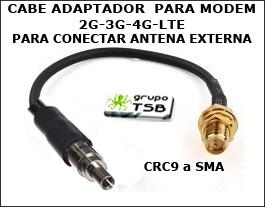 Pigtail Adaptador Antena Crc9 A Rp-sma Para Modem 3g-4g Lte